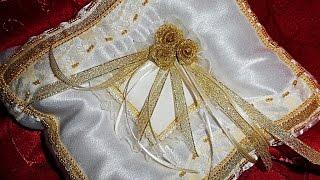 Свадебные бокалы, свадебные подушечки для колец