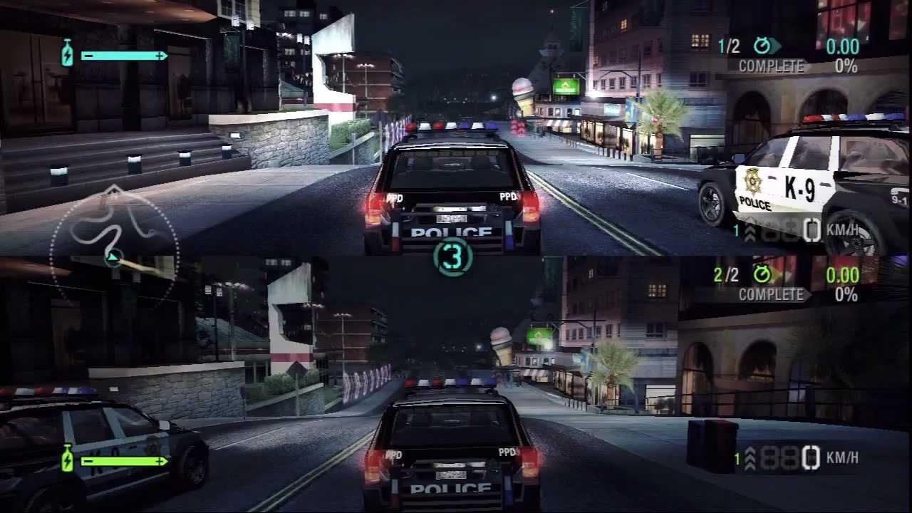 R34 Wallpaper Hd Need For Speed Carbon Split Screen Race Police Suv Vs
