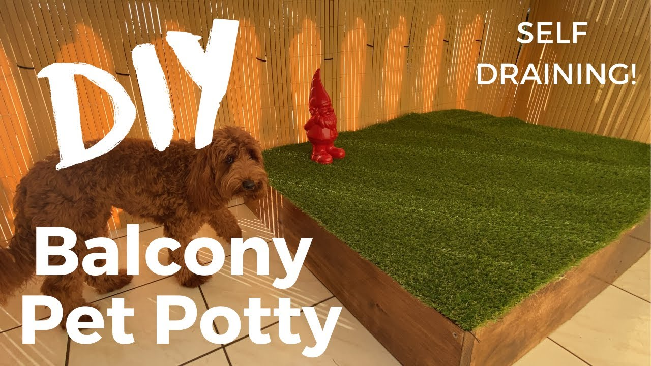 diy balcony dog porch potty