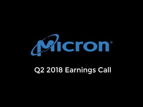 Micron Q2 2018 Earnings Call | Crypto-Mining, Autonomous Cars, Future DRAM Prices