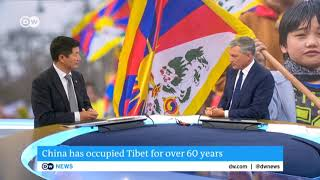 Interview with Sikyong Dr. Lobsang Sangay   Deutsche Welle TV (English)