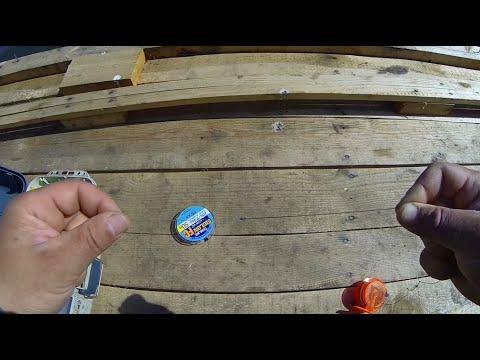 Как связать плетенку с леской видео