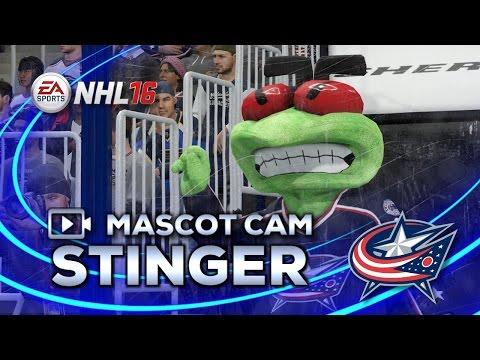 NHL 16 Mascot Cam | Stinger (Columbus Blue Jackets)