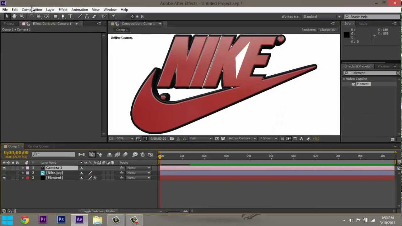 Make Your Logo Or Symbol 3D in After Effects (Tutorial) - YouTube