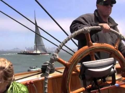 Yacht America Sailing Under Golden Gate Bridge, San Francisco   A Vlog