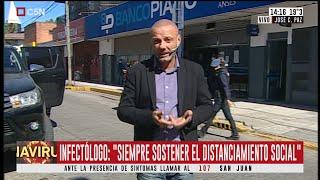 Cuarentena: fila en los bancos para cobrar jubilaciones