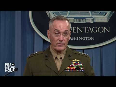 WATCH LIVE: Joint Chiefs Chairman Dunford discusses deaths of U.S. troops in Niger