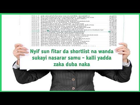 Download NYIF Sun Fitar da Shortlist Na wanda sukayi Nasarar Samu - Kalli yadda zaka duba naka