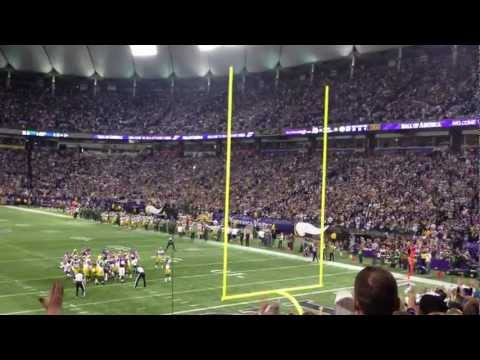Blair Walsh Game Winning Field Goal. Vikings vs. Packers 12/30/12