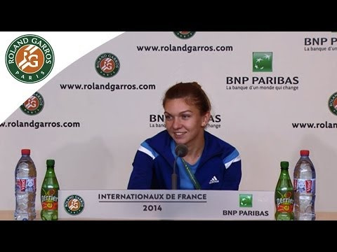 Press conference Simona Halep 2014 French Open R2