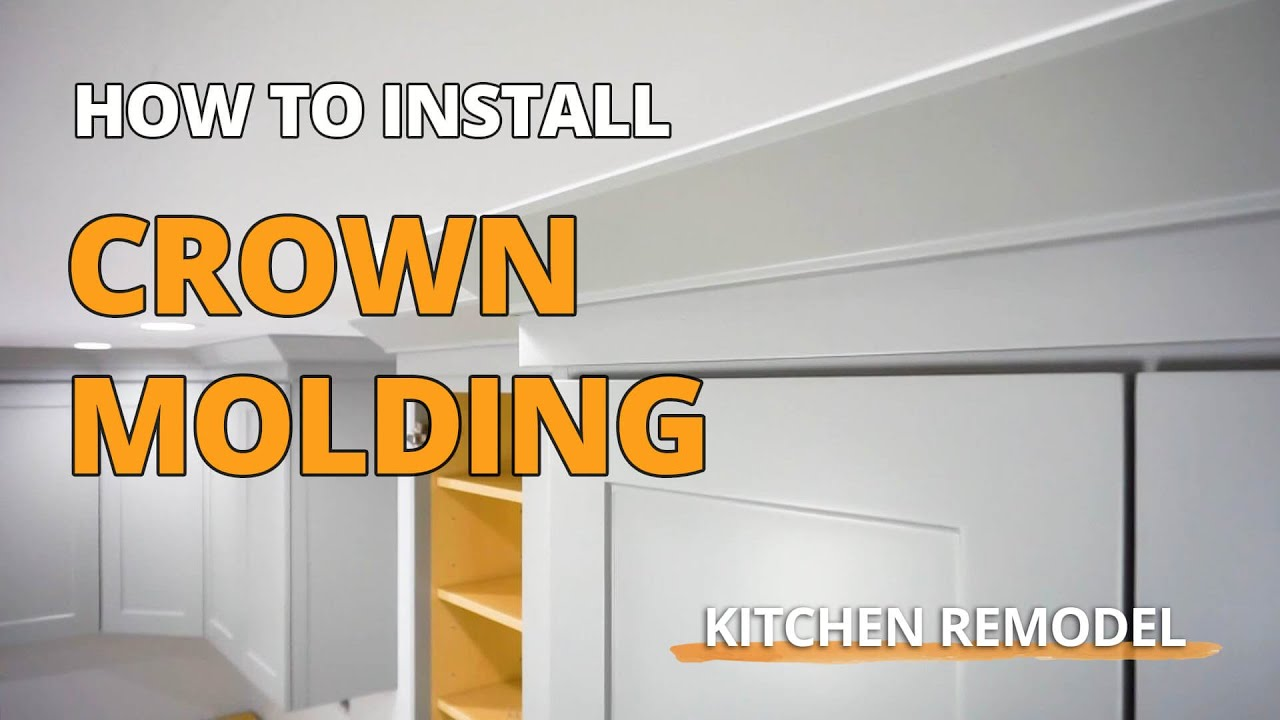 How To Install Crown Molding On Your Wall Cabinets Youtube