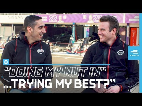 'Doing My Nut In!' | English Slang Challenge With Sebastien Buemi And Oliver Rowland