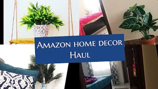 INDIAN HOME DECOR HAUL FROM AMAZON||BUDGET FRIENDLY| CURTAINS ARTIFICIAL PLANTS N MORE