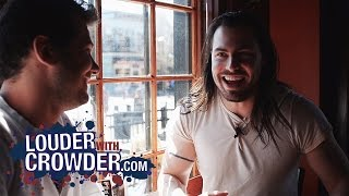 Andrew W.K. Parties On Louder With Crowder!