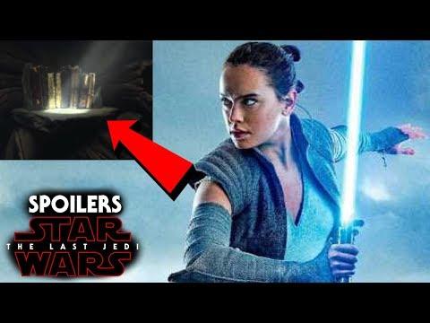 Star Wars The Last Jedi Spoilers - Rey & Ancient Jedi Texts