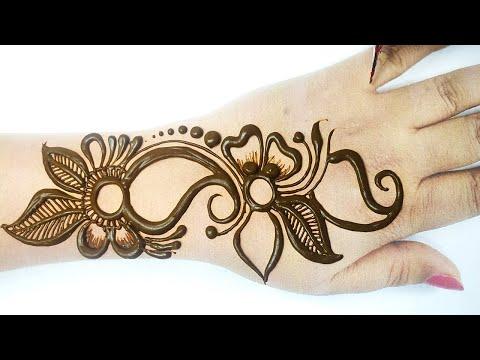 Easy Arabic Mehndi Design for Hands - Beautiful Mehndi Design -आसान  मेहँदी लगाना सीखे by BeautyZing