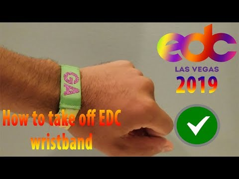 How To Remove Reuse A Festival Wristband 2017 2018 Youtube