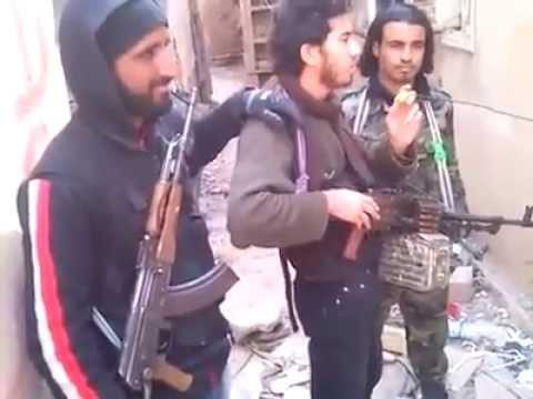 Nusret cephesinden bir mucahid savaş esnasında neşid söylüyor dinle   videos