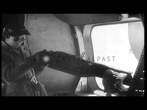 US B-24 aircraft bomb targets in Japanese occupied Hanoi and Haipong, Indochina, ...HD Stock Footage