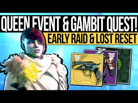 Destiny 2 | QUEEN EVENT & MALFEASANCE QUEST! Mara Sov Mission, Early Raid Loot & Lost Reset Glitch!