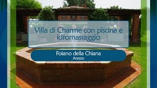 Villa di Charme nei pressi di Arezzo con piscina e idromassaggio - rif. 1312305