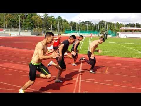 100M & 200M sprint full workout drills#Evans Road stadium#2015