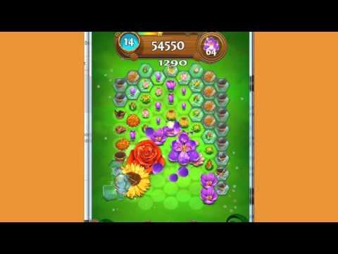 Blossom Blast Saga Level 120 ~ Pick 100 Flowers