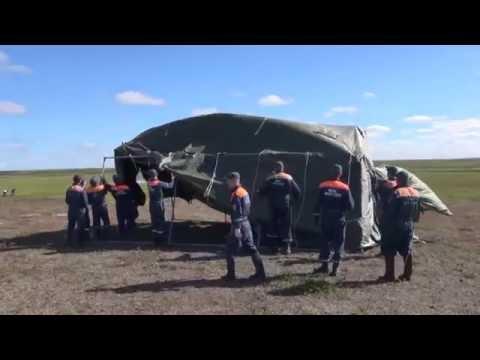 Городки жизнеобеспечения МЧС России продолжают принимать эвакуируемое население