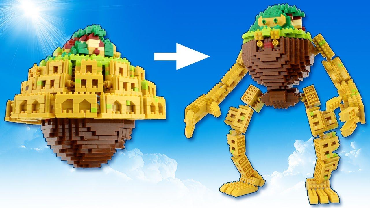100均ブロック 天空の城ラピュタの変形ロボ作ってみた Castle in the Sky: Transforming Laputa Castle