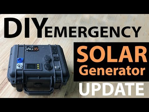 DIY Emergency Solar Generator 18650 Battery Update