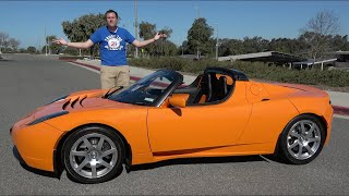Tesla Roadster 2008 года - это крутая Tesla до того как Tesla стала крутой