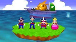 Mario Party 2 Minigames - Mario vs Luigi vs Wario vs Peach (Master CPU)