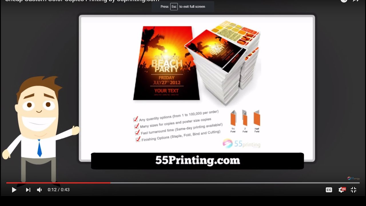 Cheap Color Copies Printing By 55printing Com Youtube