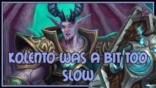 Kolento was a bit too slow | Control warlock | The Witchwood | Hearthstone