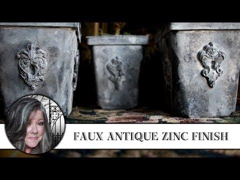 Faux Antique Zinc Finish