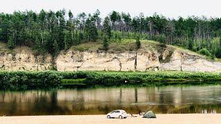 Река Амга, Село Покровка. Амгинский улус. Республика Саха (Якутия)