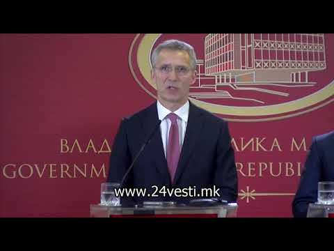 Столтенберг: Нема план Б за Македонија, решавање на името, па НАТО