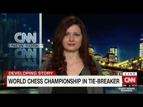 Alisa Melekhina World Chess Champ LIVE Interview - Quest Means Business - CNN Int. 11/30/2016