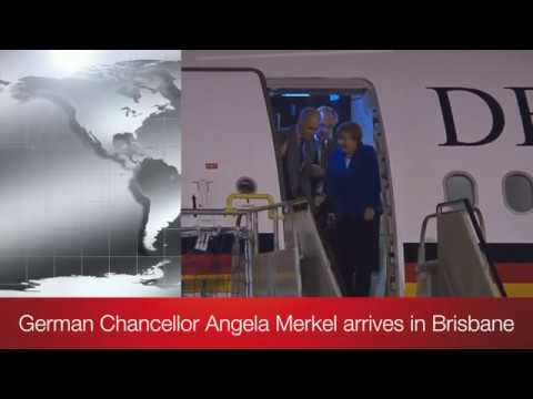 Angela Merkel German Chancellor Germany's Airbus A340-313
