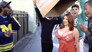 Street Magician Shocks Public With Hot Girl Prank!