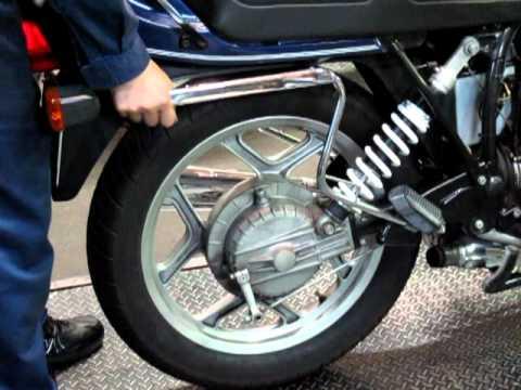 sai BMW airhead R80 rear suspension damper check!white suspension