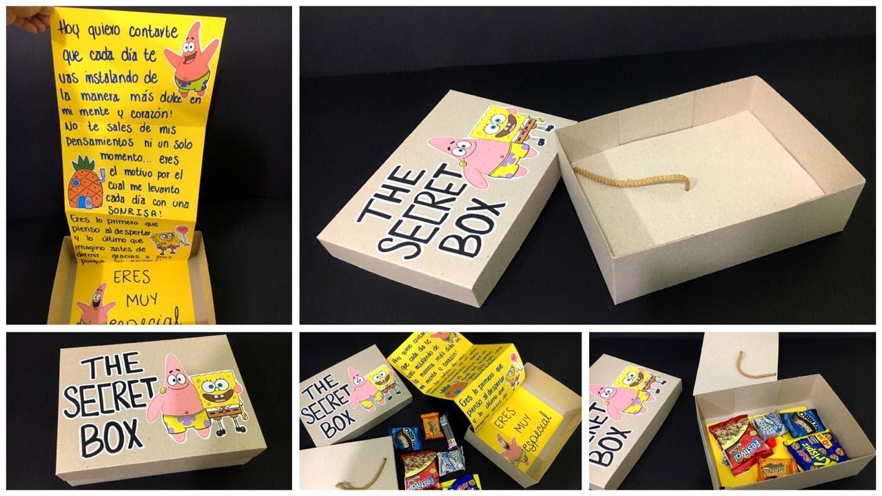 Caja secreta de BOX ESPONJA para mi NOVIO (a)