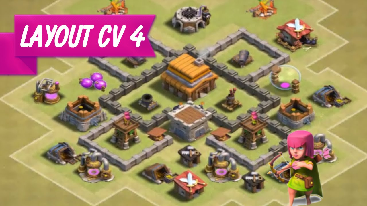 layout cv 4 guerra clash of clans top d - Layout Cv 4 Clash Of Clans