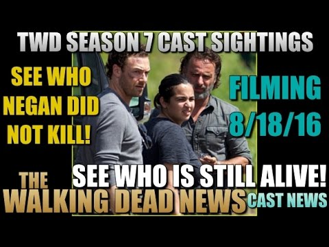 The Walking Dead Season 7 News And Spoilers See Who Was Seen On Set TWD Season 7 Spoilers