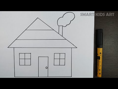 House Drawing   How To Draw A House   Drawing For Kids   Easy Drawing   Smart Kids Art