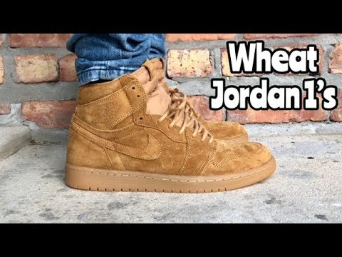 "265f29791967 Air Jordan 1 ""Wheat"" ""Harvest Gold"" on feet - YouTube"