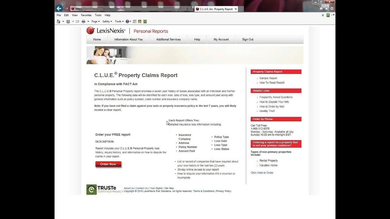 lexisnexis personal reports