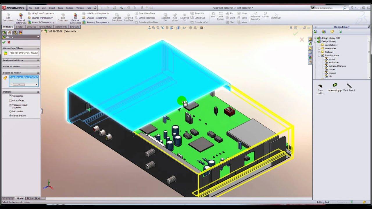 Sheet Metal Design In Solidworks Webcast Youtube