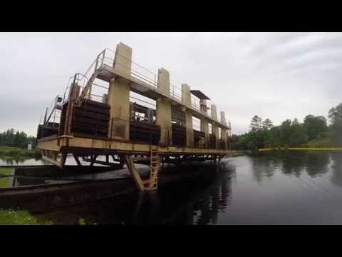 Big Chute Marine Railway TIME LAPSE, Trent Severn, Georgian Bay, Ontario, Canada