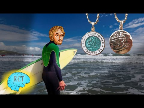 Surf's Up with St  Christopher (why he's their patron)!